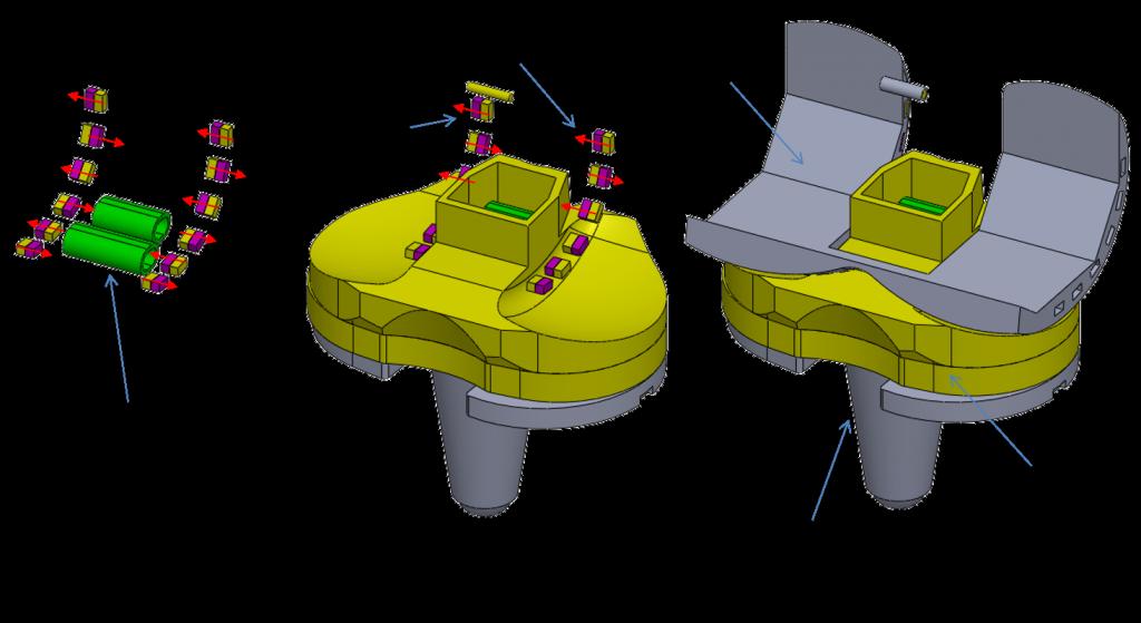 human energy harvester from knee motions - sensors