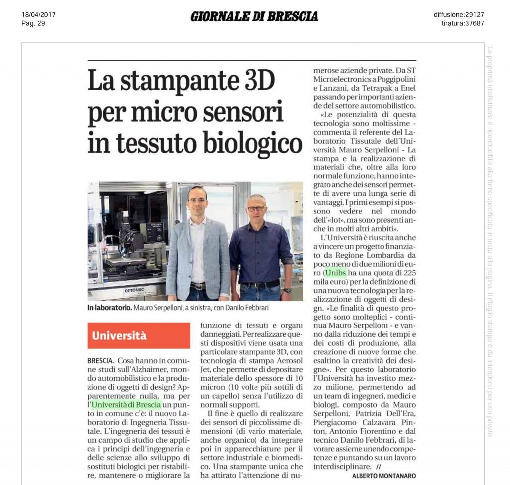 2017-04-18 articolo giornale di brescia pagina 29 economia